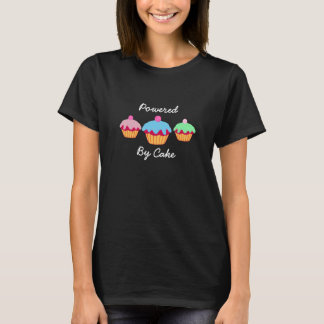 Powered By Cake T Shirt, Cute Lettering T-Shirt