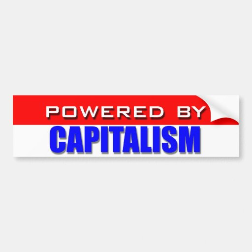 Powered By Capitalism Bumper Sticker