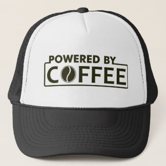 powered by coffee trucker hat