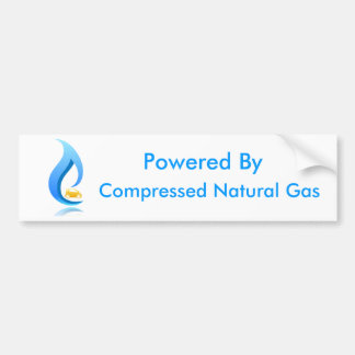Powered By Compressed Natural Gas Bumper Stickers