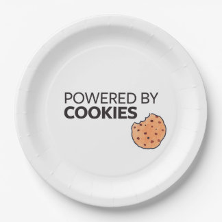 Powered by Cookies Paper Plate