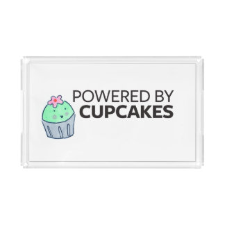 Powered by Cupcakes Acrylic Tray