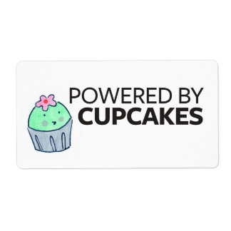 Powered by Cupcakes Shipping Label