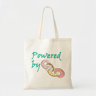 Powered By Donuts Budget Tote Bag