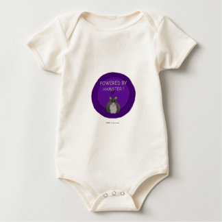 Powered By Hamster (winter white) Baby Bodysuit