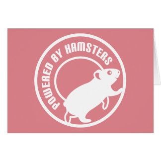 Powered by Hamsters Note Card