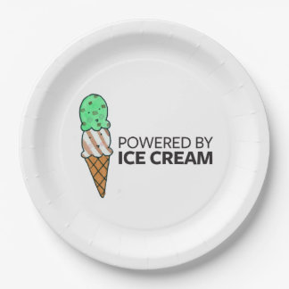Powered by Ice Cream Paper Plate