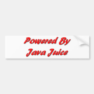 Powered By Java Juice Bumper Sticker