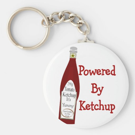 Powered By Ketchup Key Chain