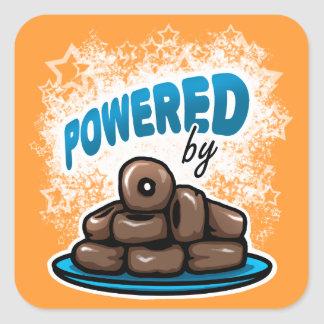 Powered by Little Chocolate Donuts stickers