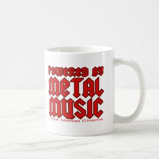 Powered by metal Music  fans Death metal Basic White Mug