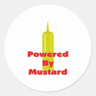 Powered by Mustard Round Sticker