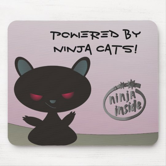 Powered by Ninja Cats Inside! Mouse Mat