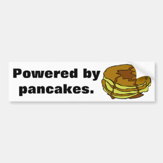 Powered by pancakes bumper sticker