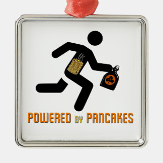 Powered by Pancakes Christmas Ornament