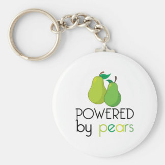 Powered By Pears Basic Round Button Key Ring