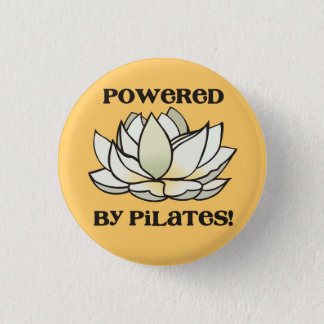 Powered By Pilates Lotus 3 Cm Round Badge
