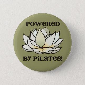 Powered By Pilates Lotus 6 Cm Round Badge