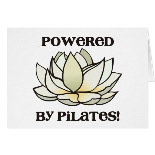 Powered By Pilates Lotus Greeting Cards