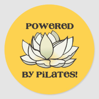 Powered By Pilates Lotus Classic Round Sticker