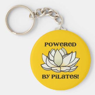 Powered By Pilates Lotus Key Ring