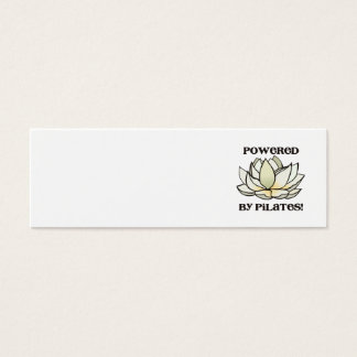 Powered By Pilates Lotus Mini Business Card