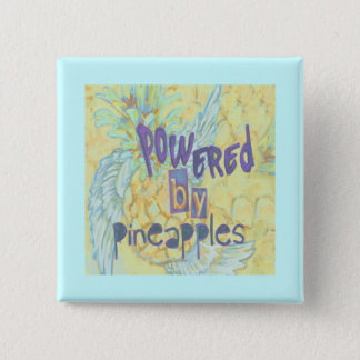 Powered By Pineapples 15 Cm Square Badge