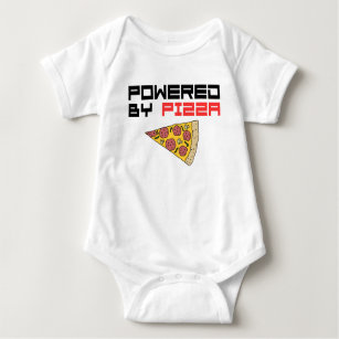 Powered By Pizza Baby Bodysuit