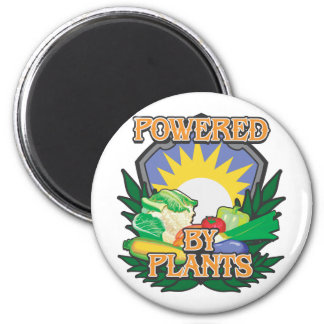 Powered by Plants 6 Cm Round Magnet