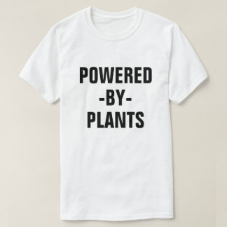 Powered by Plants men's vegan shirt