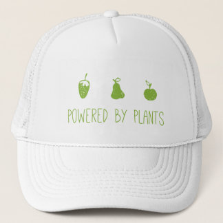 powered by plants trucker hat