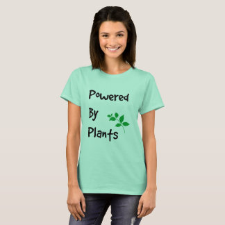 Powered By Plants Vegan Inspired Quote Art T-Shirt
