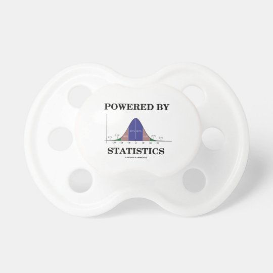 Powered By Statistics (Bell Curve Humour) Baby Pacifiers