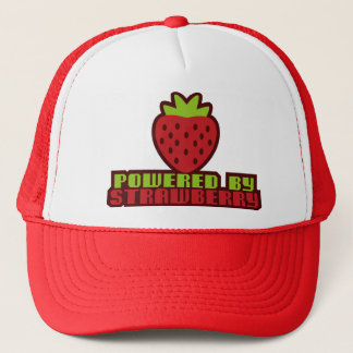 POWERED_BY_STRAWBERRY TRUCKER HAT