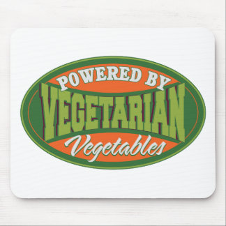 Powered by Vegetables Mouse Pad
