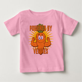 Powered By Veggies Baby T-Shirt