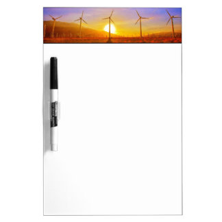 Powered by Wind Dry Erase Board
