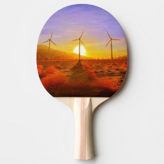 Powered by Wind Ping Pong Paddle