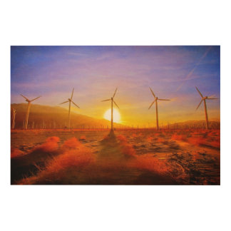 Powered by Wind Wood Print