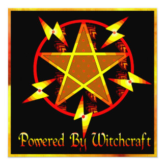 Powered By Witchcraft 13 Cm X 13 Cm Square Invitation Card