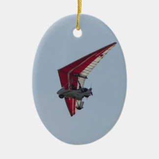 Powered hang glider christmas ornament