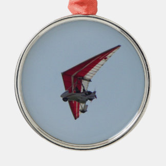 Powered hang glider Silver-Colored round decoration
