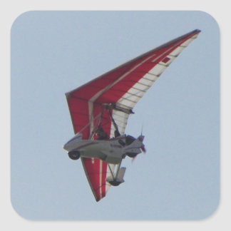 Powered hang glider sticker