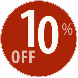 Powerful 10% OFF SALE Sign - Ornament Photo Sculptures