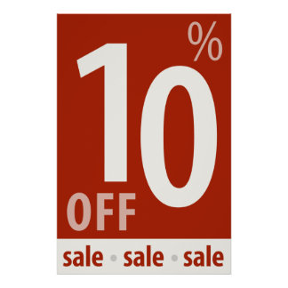 Powerful 10% OFF SALE Sign - retail sales poster