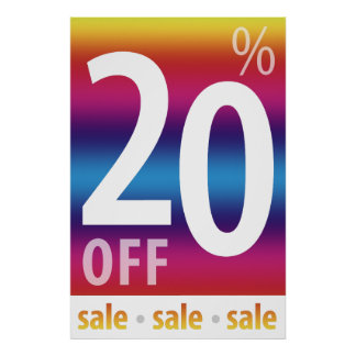 Powerful 20% OFF SALE Sign | Colorful Poster