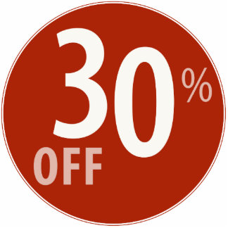 Powerful 30% OFF SALE Sign - Ornament Photo Sculptures