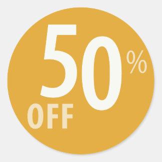 Powerful 50% OFF SALE Sign Round Sticker