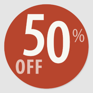 Powerful 50% OFF SALE Sign - Sticker