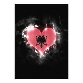 Powerful Albania 13 Cm X 18 Cm Invitation Card